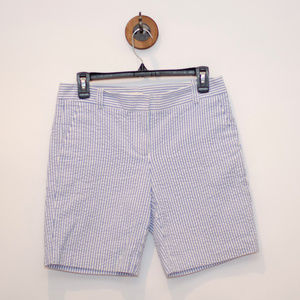 J.Crew Blue & White Striped Bermuda Shorts